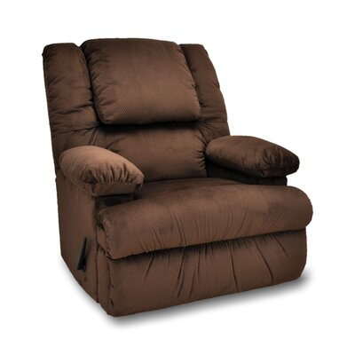 Stevens Manual Rocker Recliner Upholstery: Umber