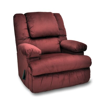 Stevens Manual Rocker Recliner Upholstery: Merlot