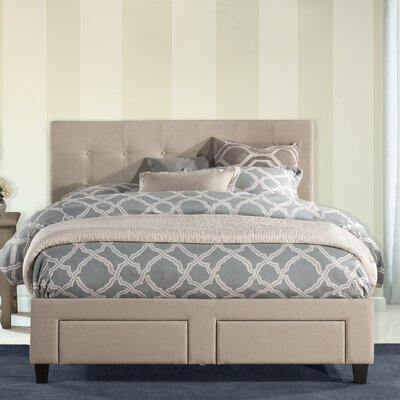 Milla Upholstered Storage Platform Bed Size: Queen