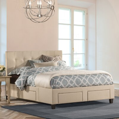 Milla Upholstered Storage Platform Bed Size: King