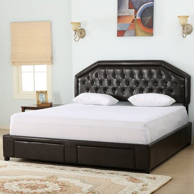 Beaumont Upholstered Storage Panel Bed Size: King