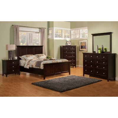 Seger Panel Bed Size: California King