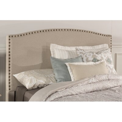 Granger Upholstered Panel Headboard Size: Full, Upholstery: Light Taupe