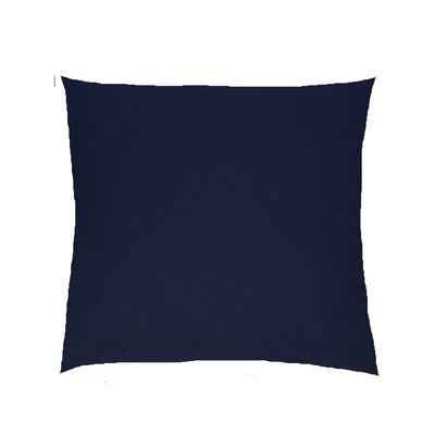 Dover Indoor/Outdoor Knife Edge Sunbrella Throw Pillow Color: Navy