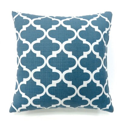 Ellsworth Quatrefoil Throw Pillow Size: Large, Color: Blue