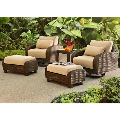 Fleming 5 Piece Deep Seating Group with Cushion