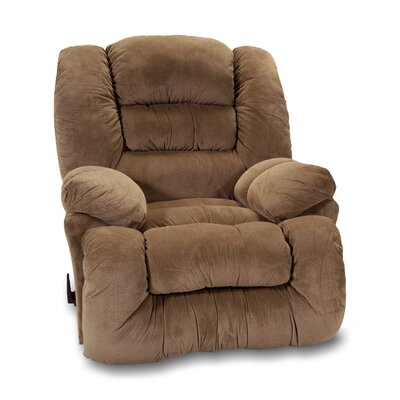 Westchester Manual Rocker Recliner Upholstery: Brown Sugar