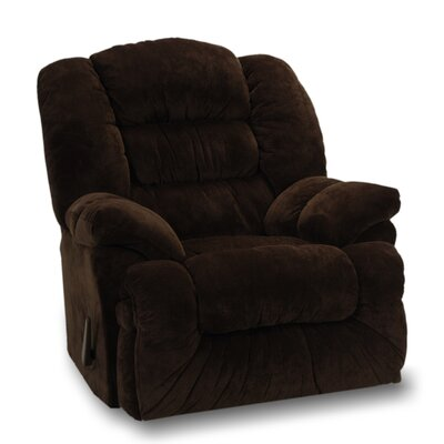 Westchester Manual Rocker Recliner Upholstery: Chocolate