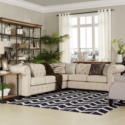 Gowans Sectional Collection Upholstery: Beige