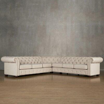 Kaminsky Sectional Upholstery: Linen - Beige