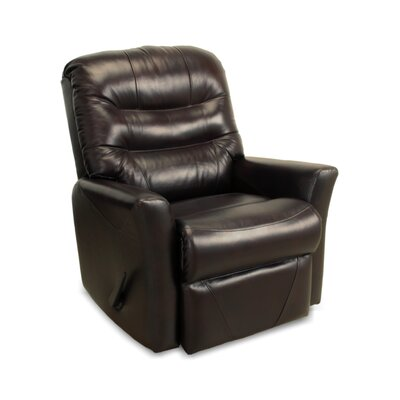 Westchester Leather Rocker Recliner Upholstery: Chocolate