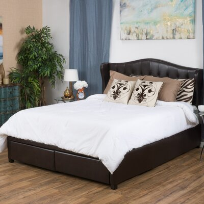 Riverside Upholstered Storage Panel Bed Size: California King