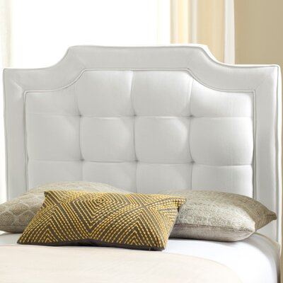 Findlay Upholstered Panel Headboard Size: Twin, Upholstery: White