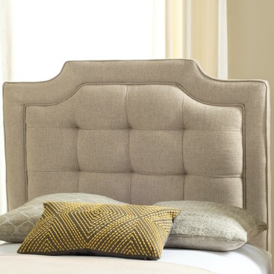 Findlay Upholstered Panel Headboard Size: Full, Upholstery: Hemp