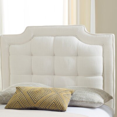 Findlay Upholstered Panel Headboard Size: Twin, Upholstery: Creme