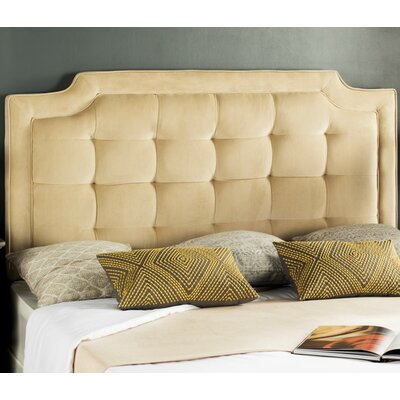 Findlay Upholstered Panel Headboard Size: Queen, Upholstery: Creme