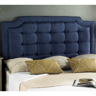 Findlay Upholstered Panel Headboard Size: Full, Upholstery: Navy