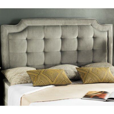 Findlay Upholstered Panel Headboard Size: Twin, Upholstery: Pewter