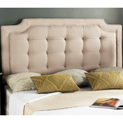 Findlay Upholstered Panel Headboard Upholstery: Taupe, Size: Twin