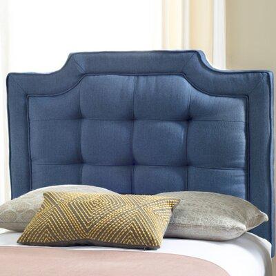 Findlay Upholstered Panel Headboard Size: Twin, Upholstery: Navy