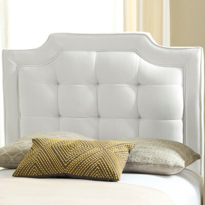 Findlay Upholstered Panel Headboard Size: King, Upholstery: White