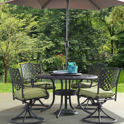 Lehighton 6 Piece Dining Set with Cushions