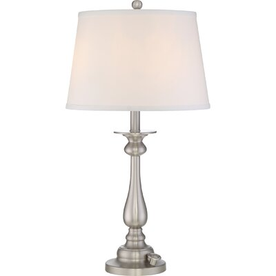 Faldo 28 Table Lamp Base Finish: Brushed Nickel