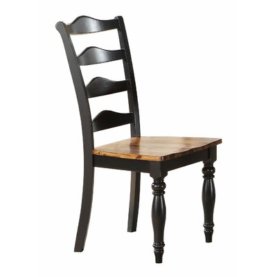 Wappinger Solid Wood Dining Chair (Set of 2)