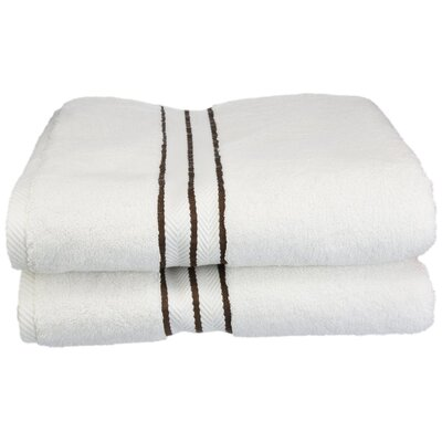 Hotel Bath Towel Set Color: Chocolate