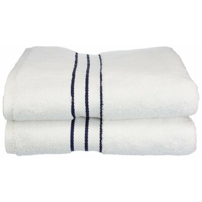 Hotel Bath Towel Color: Navy Blue
