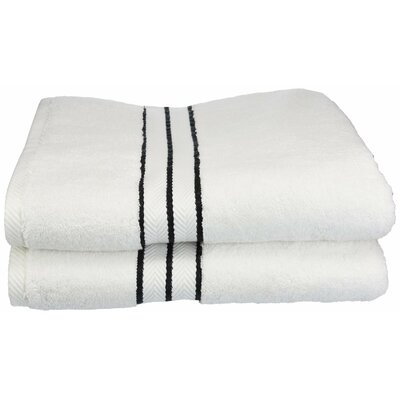 Hotel Bath Towel Set Color: Black