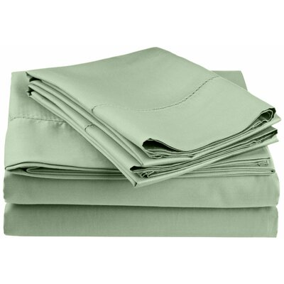 Freeburg 600 Thread Count Sheet Set Size: Full, Color: Sage