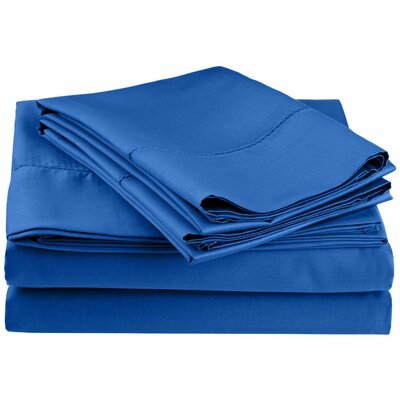 Freeburg 600 Thread Count Sheet Set Size: King, Color: Blue