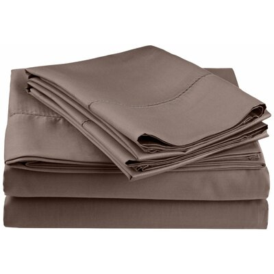 Freeburg 600 Thread Count Sheet Set Size: Full, Color: Gray
