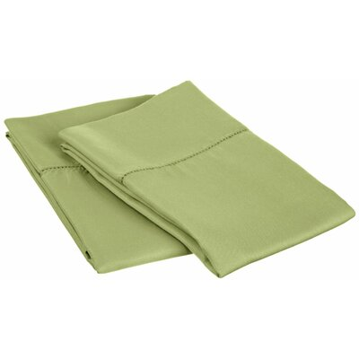 Freeburg Cotton Rich 600 Thread Count Pillowcase Size: King, Color: Sage