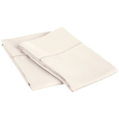 Freeburg Cotton Rich 600 Thread Count Pillowcase Size: King, Color: Ivory