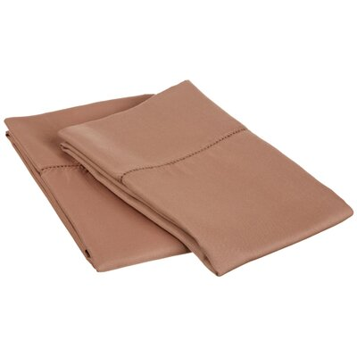 Freeburg Cotton Rich 600 Thread Count Pillowcase Size: King, Color: Taupe