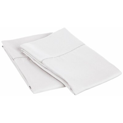 Freeburg Cotton Rich 600 Thread Count Pillowcase Color: White, Size: Standard