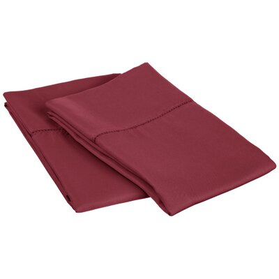 Freeburg Cotton Rich 600 Thread Count Pillowcase Color: Wine, Size: Standard