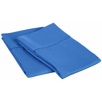 Freeburg Cotton Rich 600 Thread Count Pillowcase Size: King, Color: Blue