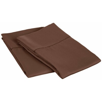 Freeburg Cotton Rich 600 Thread Count Pillowcase Size: King, Color: Chocolate