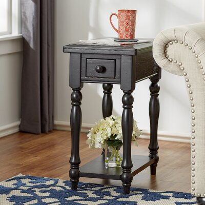 Ivesdale End Table With Storage Color: Ebony