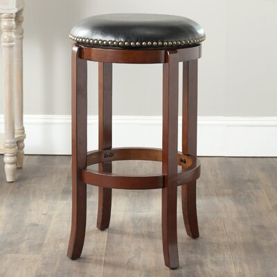 Rockton 29 Swivel Bar Stool Finish: Cherry