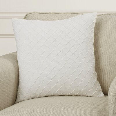 Zurich Linen Throw Pillow Size: 18 H x 18 W x 4 D, Color: Ivory