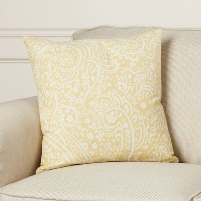 Brehmer Cotton Throw Pillow Size: 22 H x 22 W x 4 D, Color: Sea Foam / Ivory