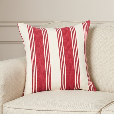 Fagan Cotton Throw Pillow Size: 20 H x 20 W x 4 D, Color: Burgundy/Ivory