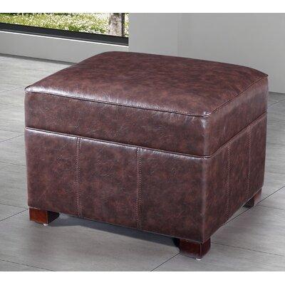 Dail Storage Ottoman Upholstery: Dark Brown
