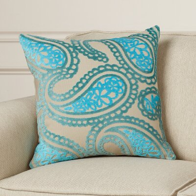 Malick Velvet Throw Pillow Color: Blue
