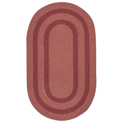Westfield Red Area Rug Rug Size: Oval 3' x 5'