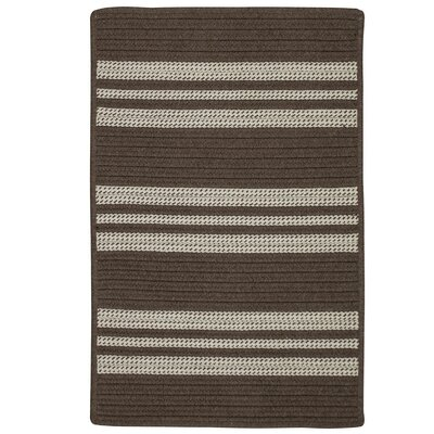 Neponset Hand-Woven Brown Indoor/Outdoor Area Rug Rug Size: 5 x 7
